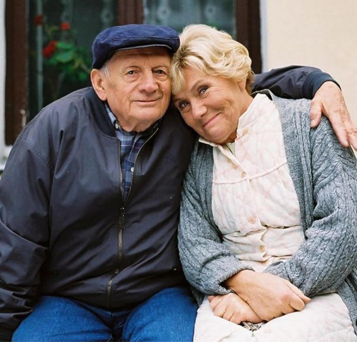 Witold Pyrkosz i Teresa Lipowska na planie
