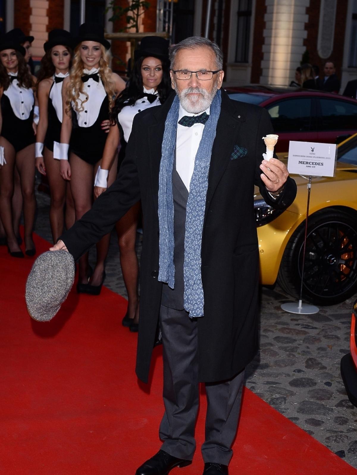 Włodzimierz Zientarski na imprezie Samochód Roku Playboya