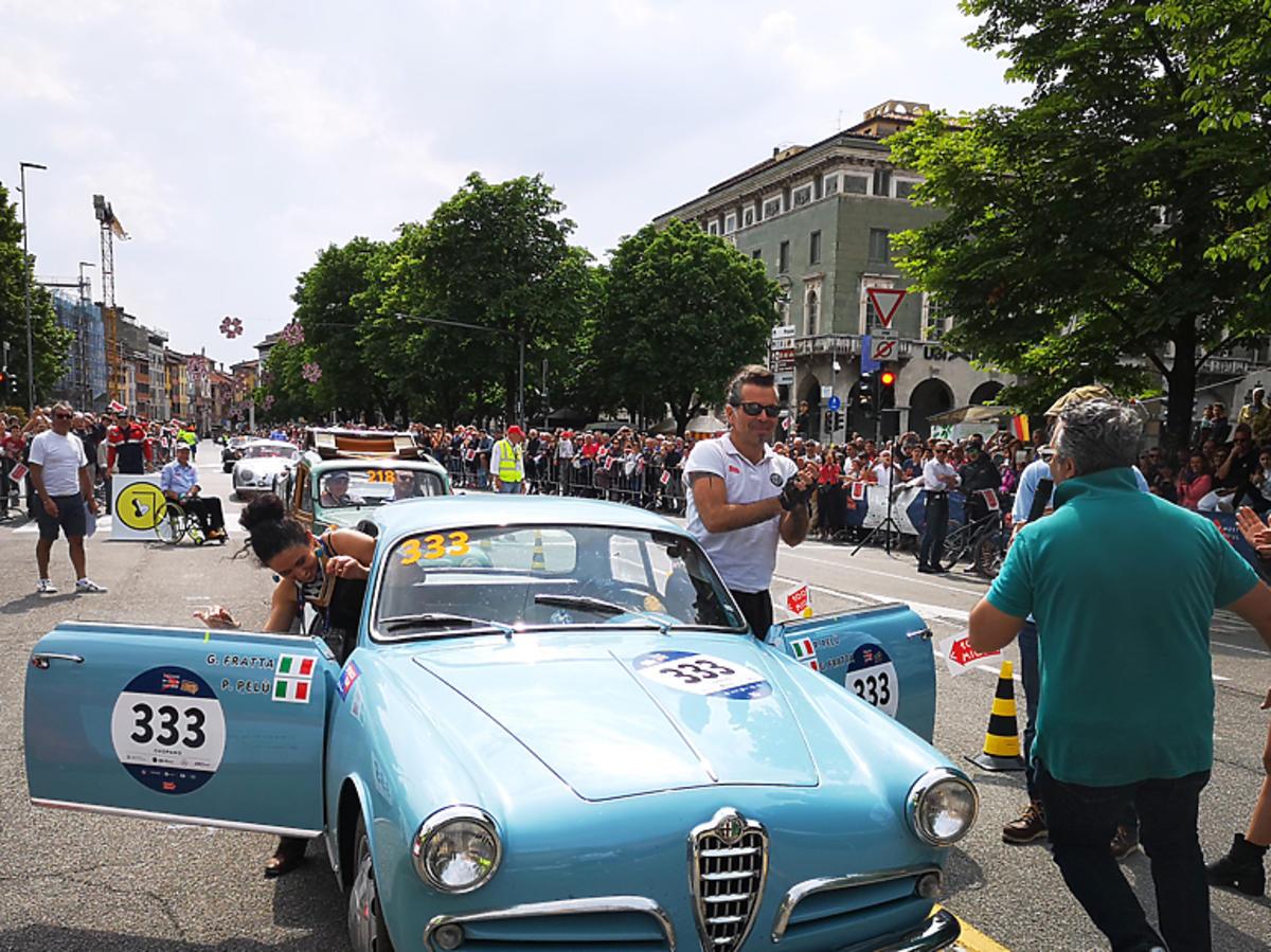 Włoski muzyk Piero Pelu na trasie rajdu
