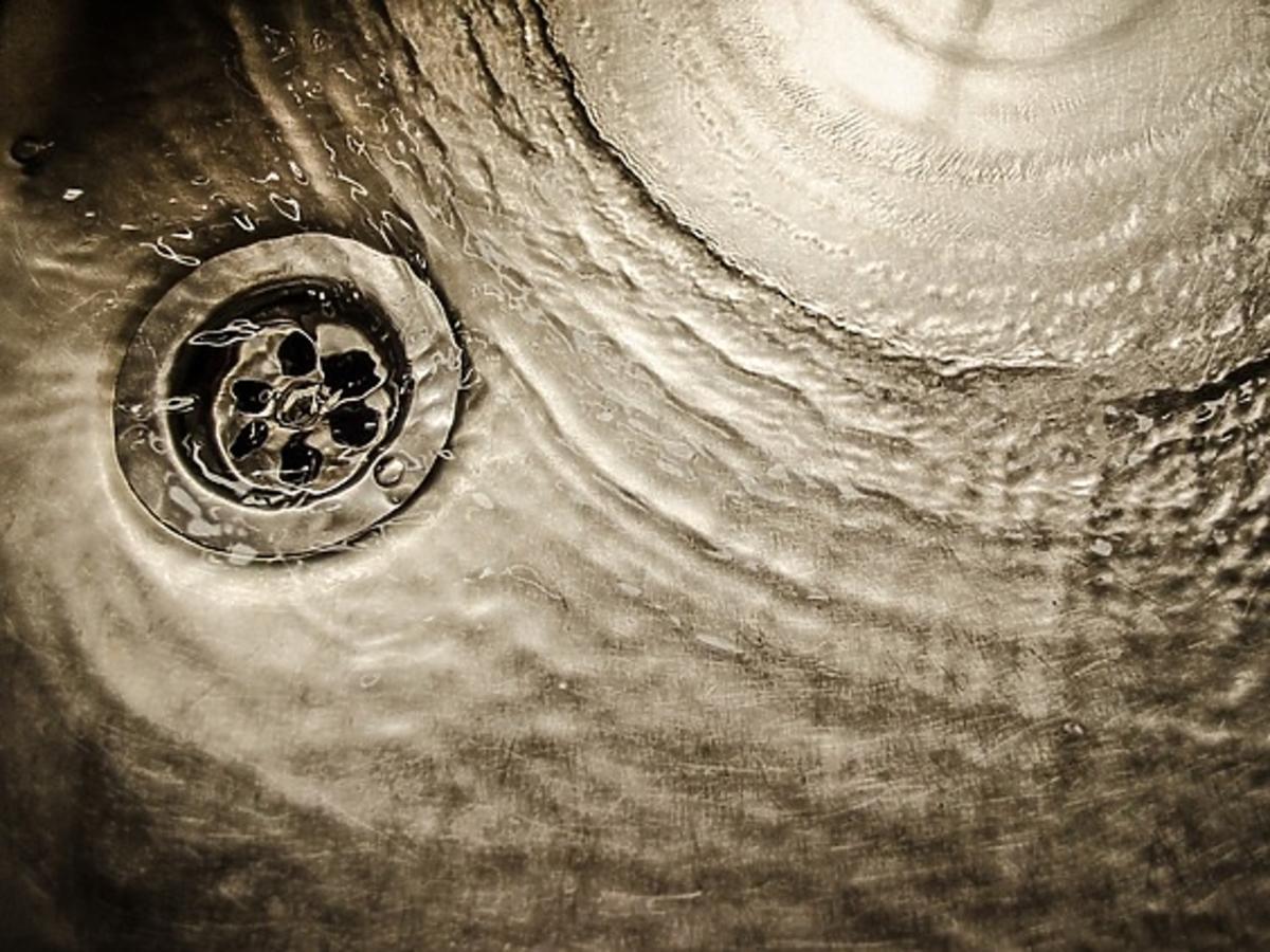 woda w zlewie