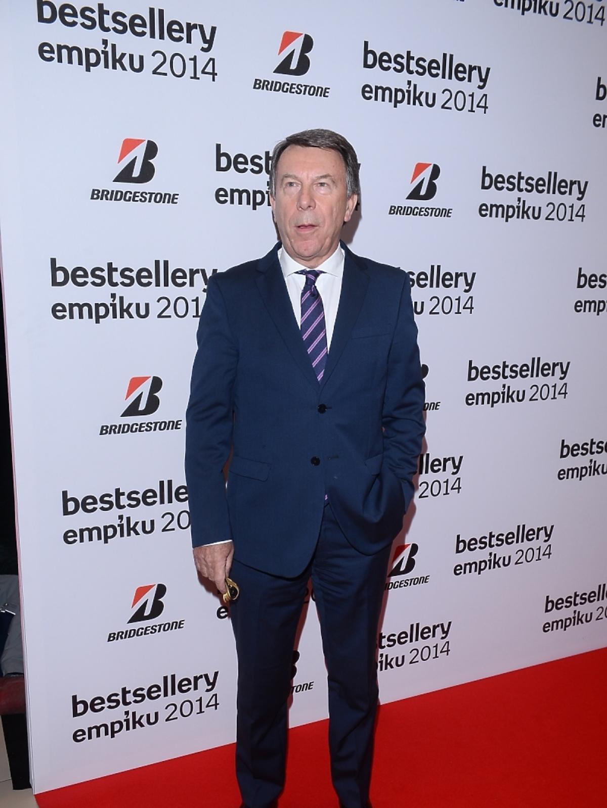 Wojciech Gąsowski na gali Bestsellery Empiku 2014