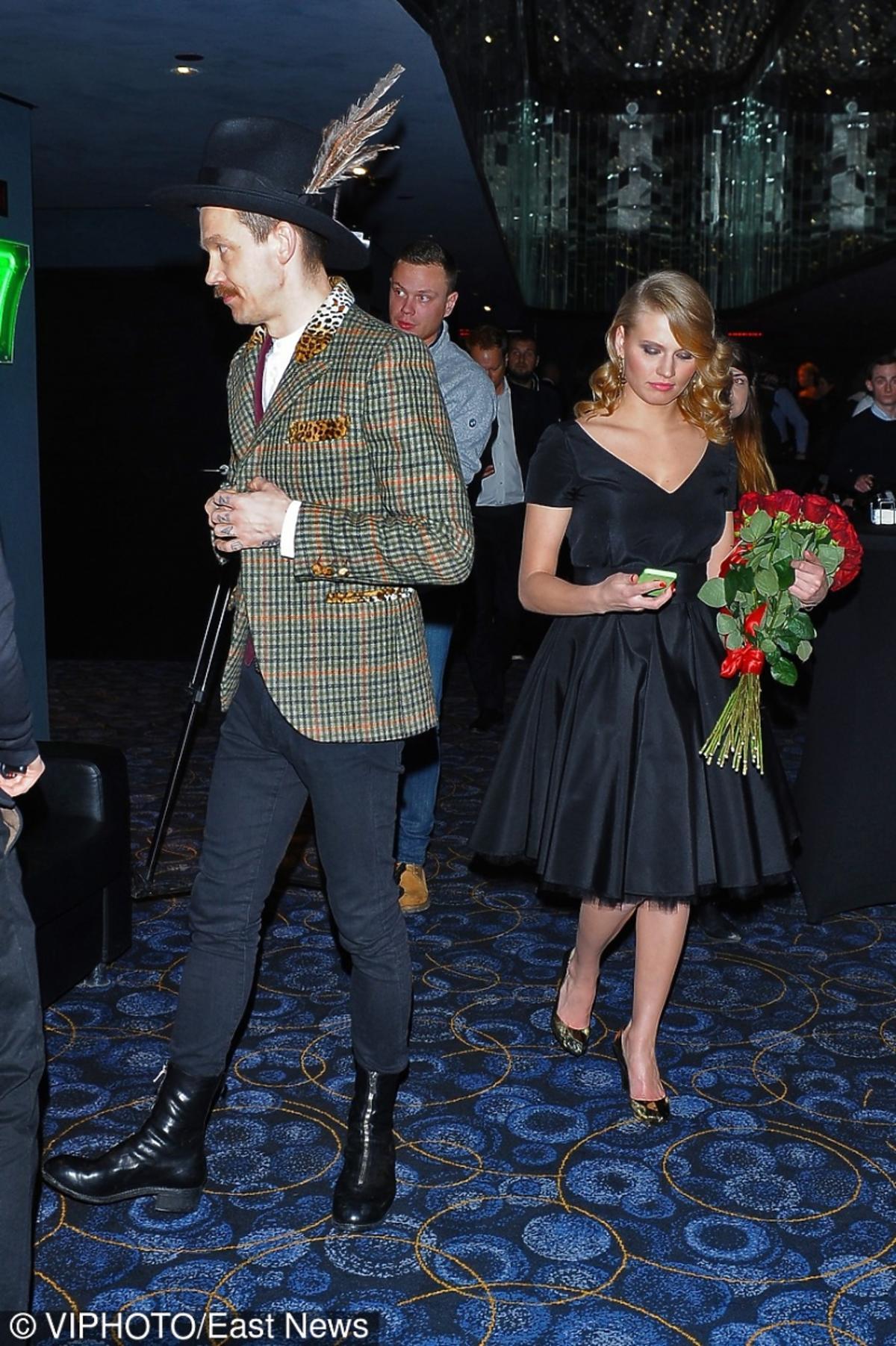 Wojciech Mazolewski i Natalia Rybicka na premierze filmu Excentrycy