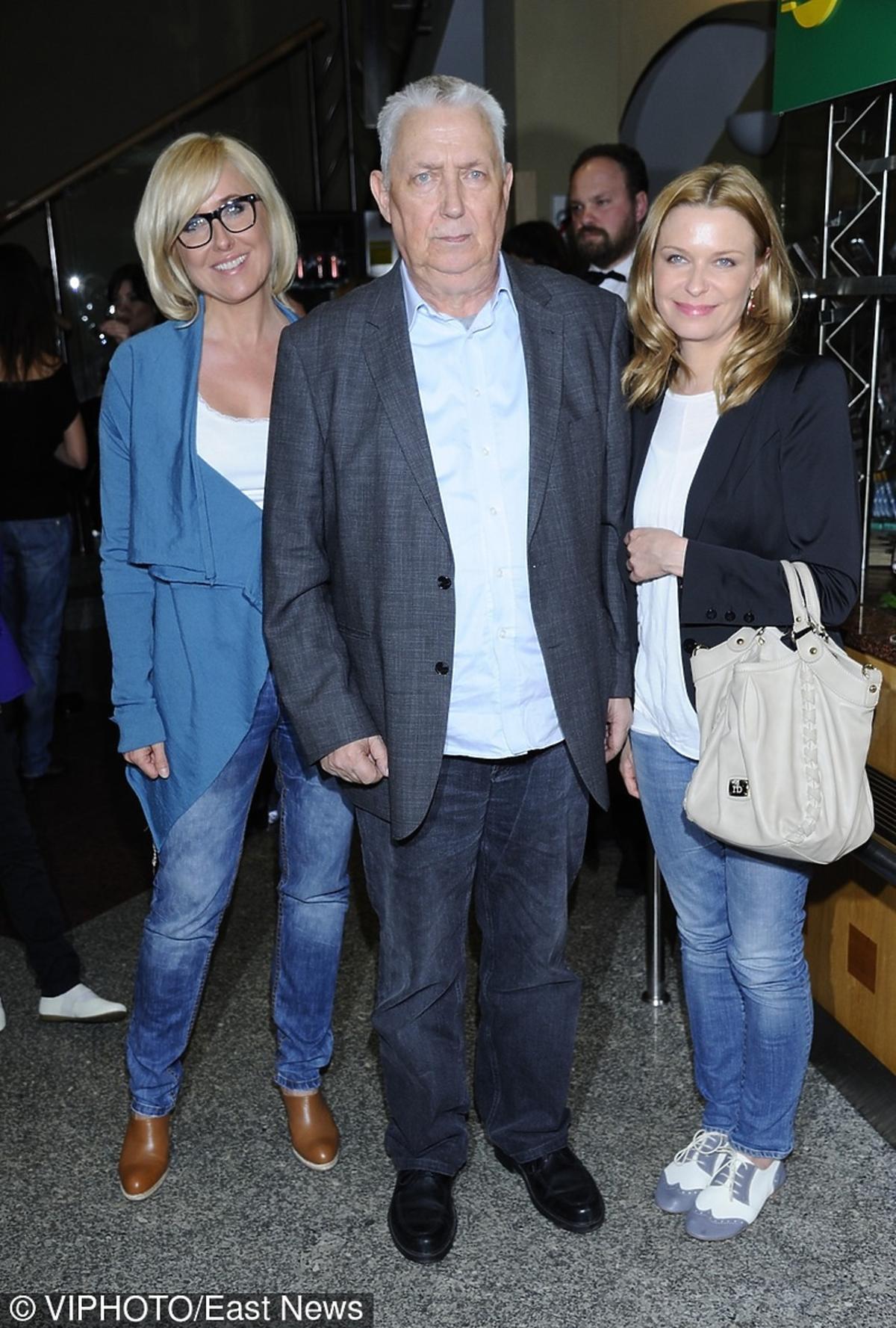Wojciech Młynarski z córkami