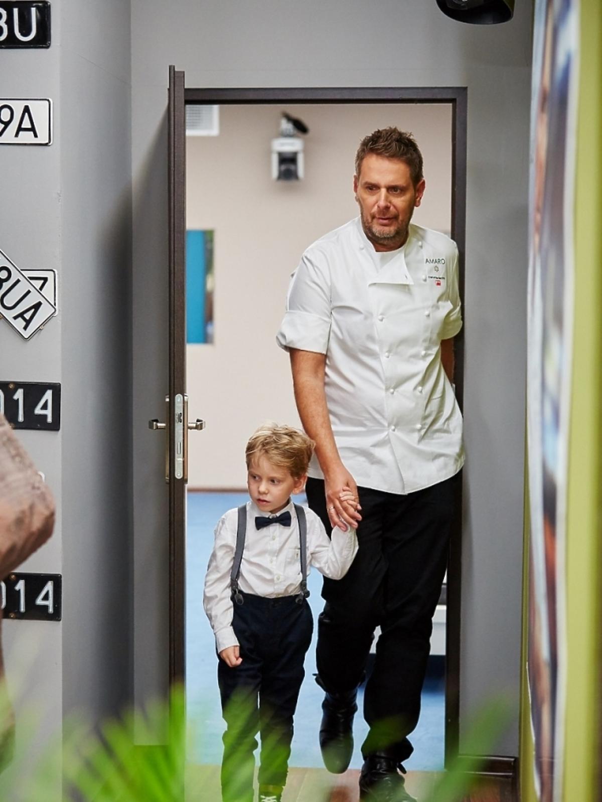 Wojciech Modest Amaro z synem w Hell's Kitchen