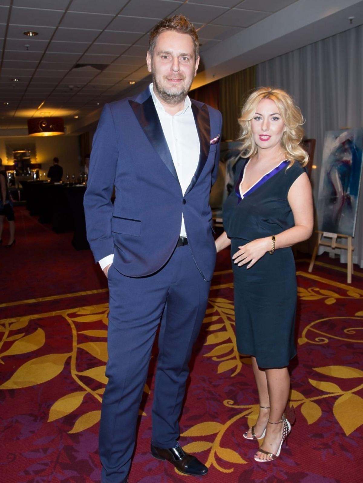 Wojciech Modest Amaro z żoną na gali Osobowości i sukcesy 2015