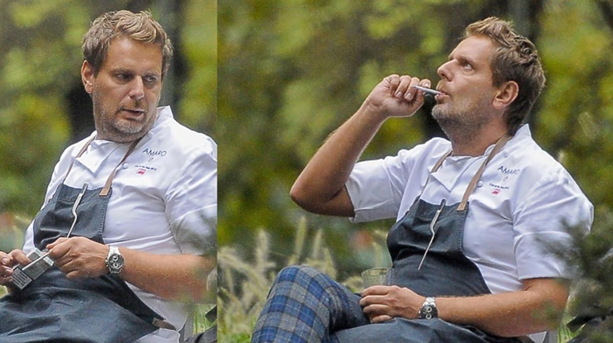 Wojciech Modest Amaro zrobił sobie przerwę na papierosa