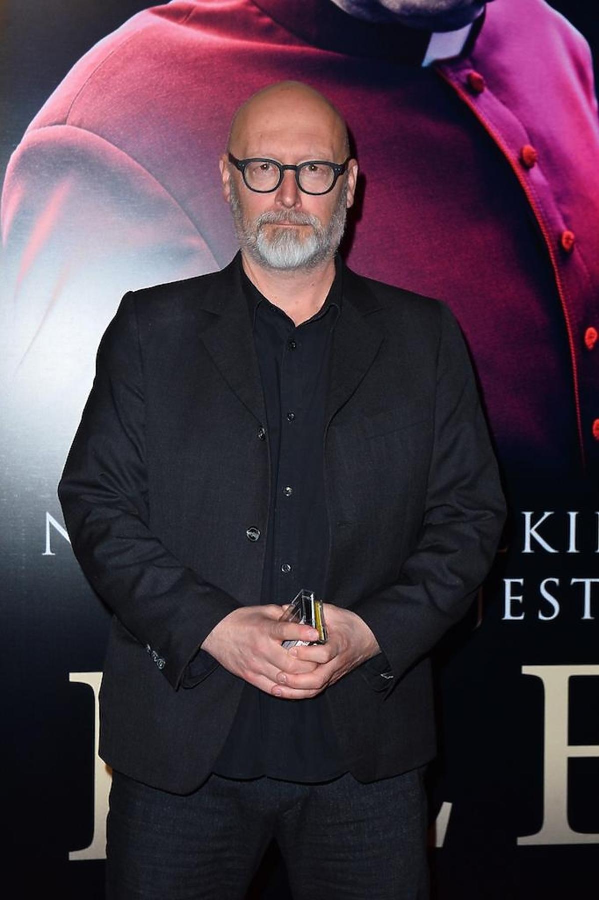 Wojciech Smarzowski  na premierze filmu Kler