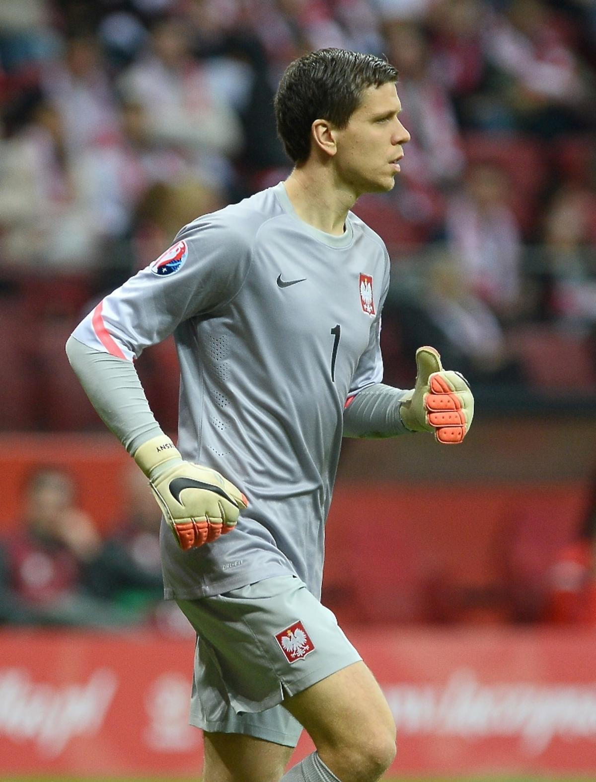 Wojciech Szczęsny na meczu Polska-Szkocja na Stadionie Narodowym