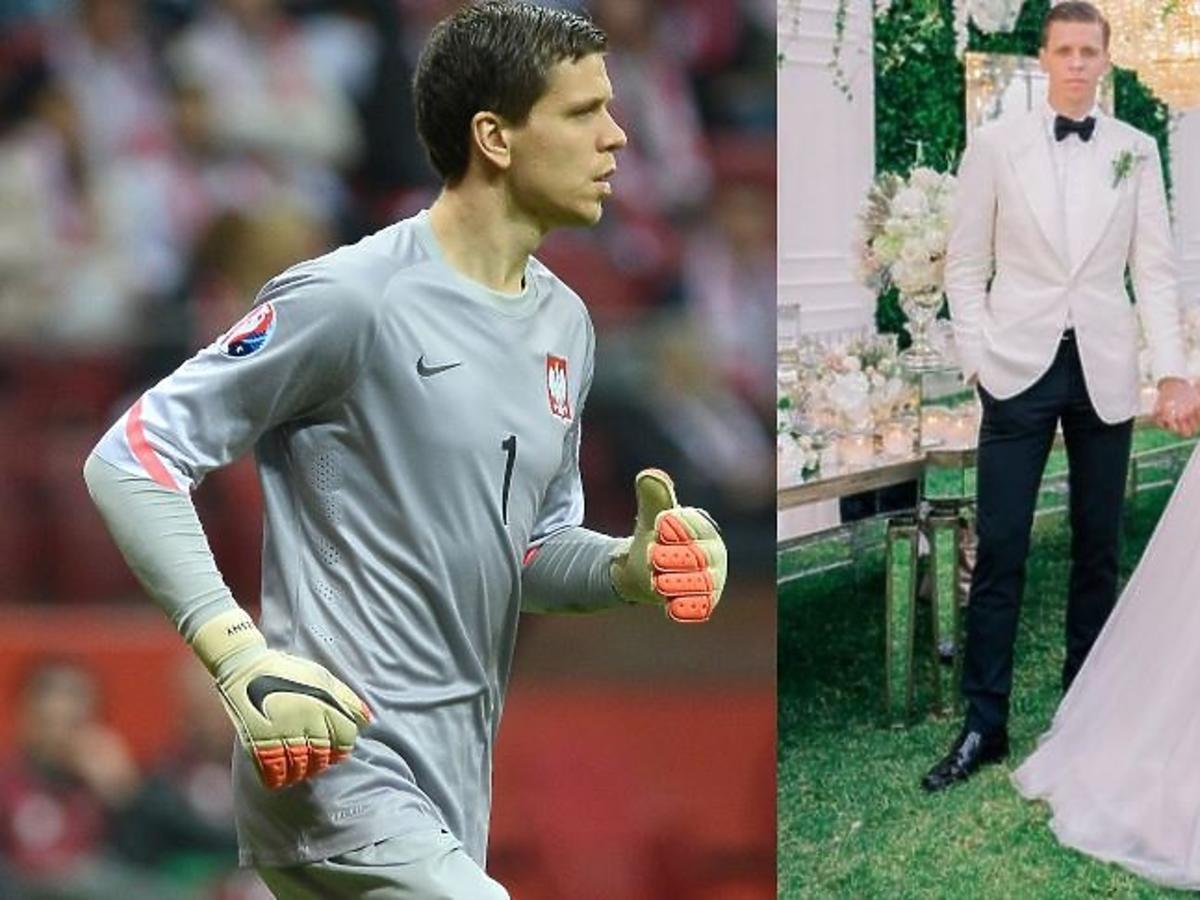 Wojciech Szczęsny w szarym stroju sportowym