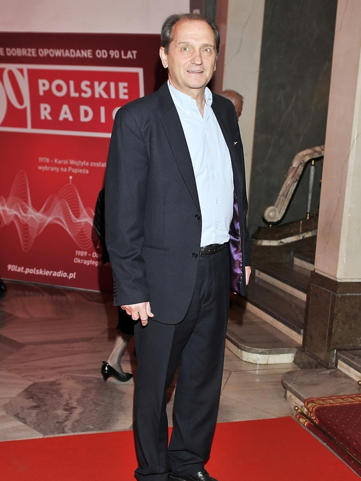 Wojciech Wysocki na jubileuszowej gali 90-lecia Polskiego Radia
