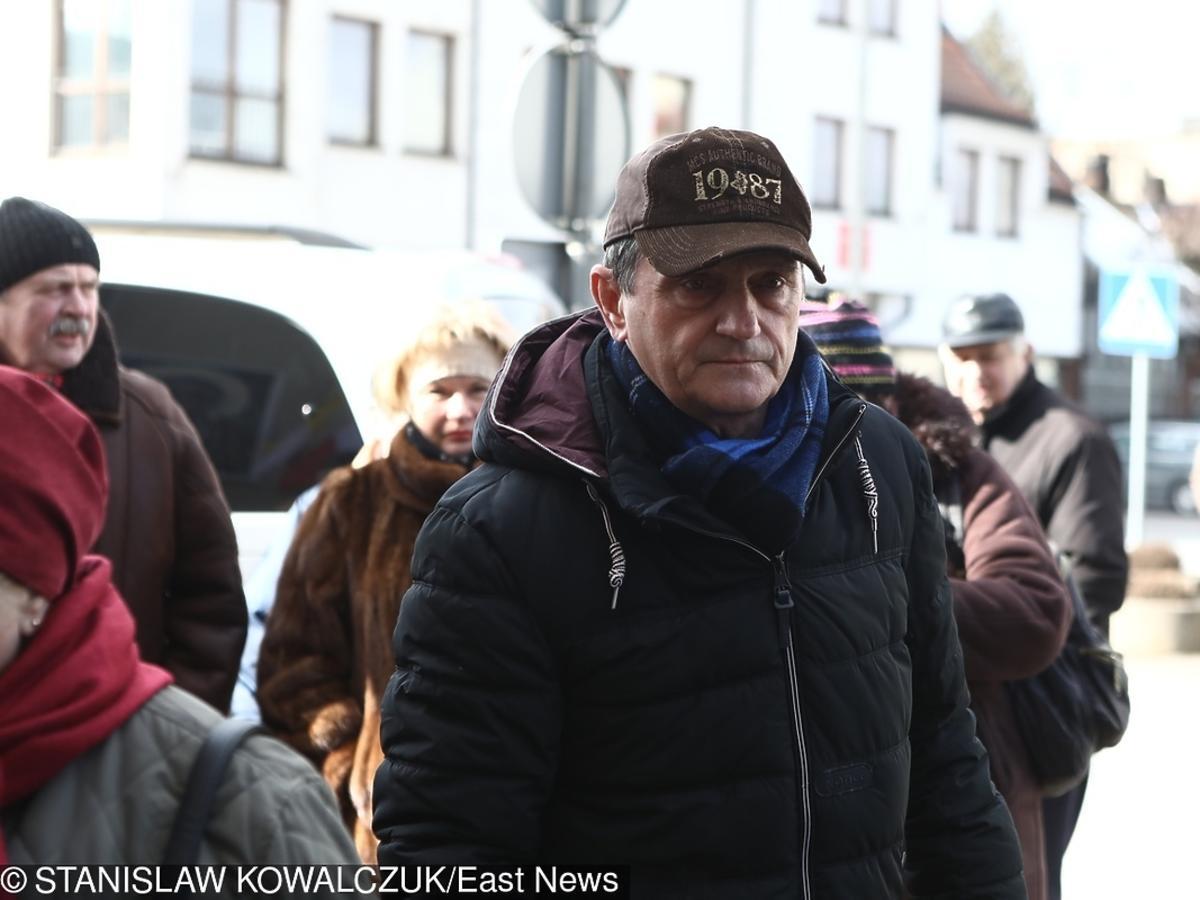 Wojciech Wysocki na pogrzebie Agnieszki Kotulanki