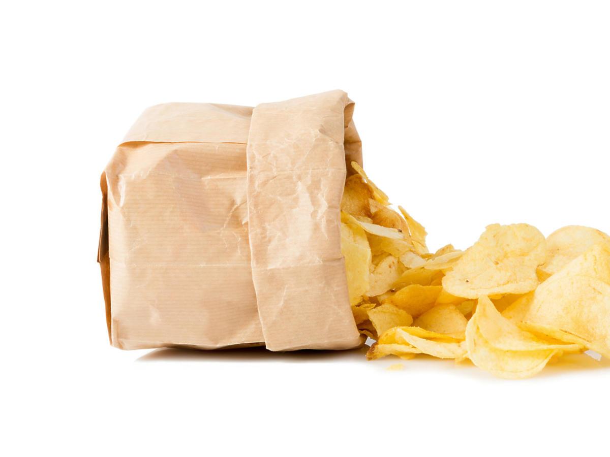 Worek z chipsami.