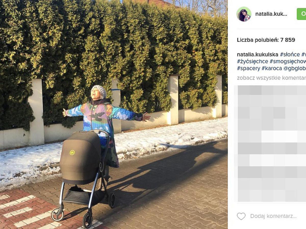 wózek córki Natalii Kukulskiej