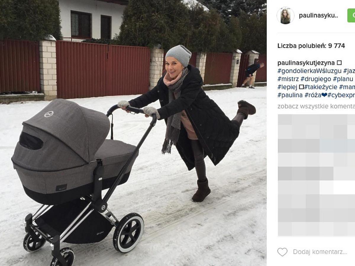 wózek córki Pauliny Sykut