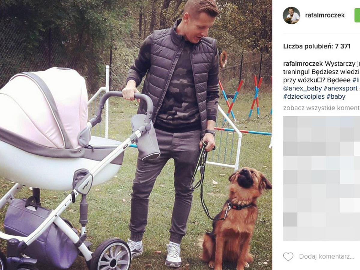 wózek córki Rafała Mroczka