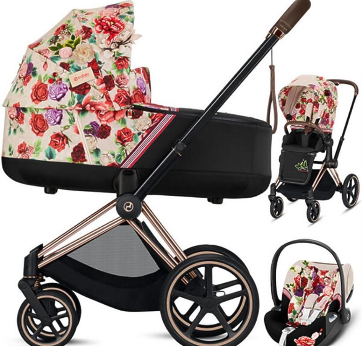Wózek Cybex w kwiaty