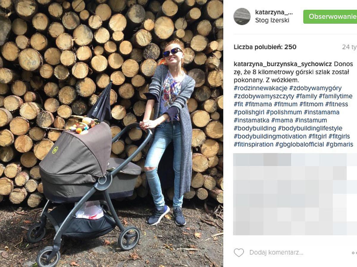 wózek syna Kasi Burzyńskiej