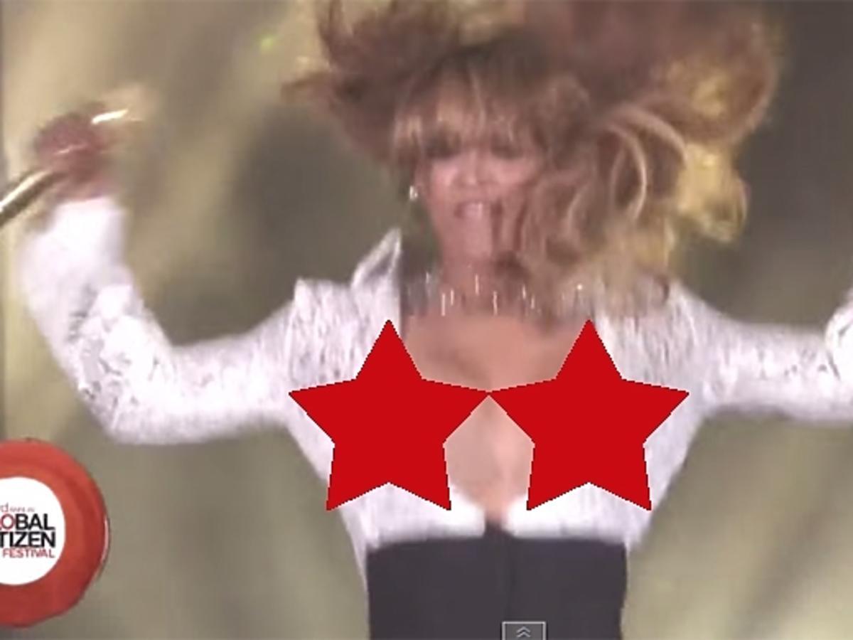 Wpadka Beyonce na koncercie
