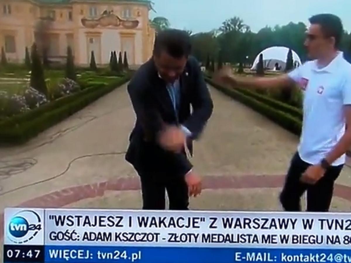 Wpadka Jarosława Kuźniara na wizji