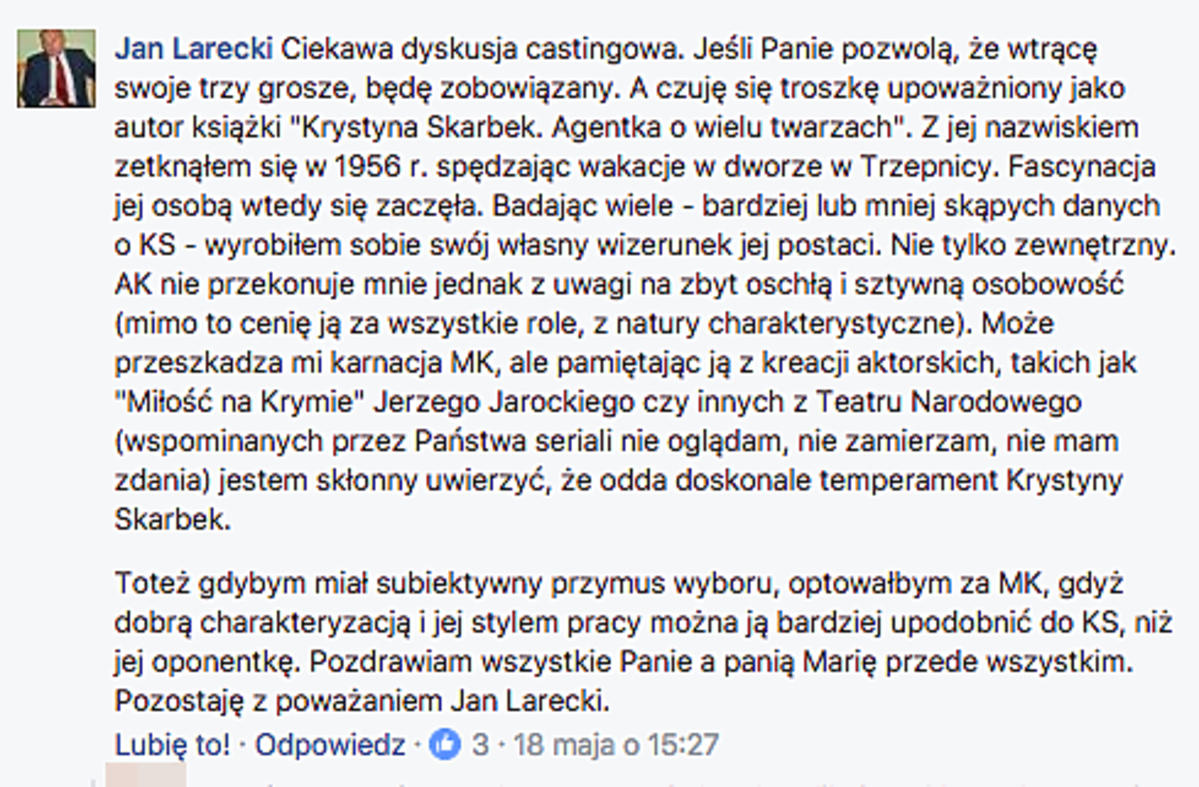 wpis pisarza o Kożuchowskiej