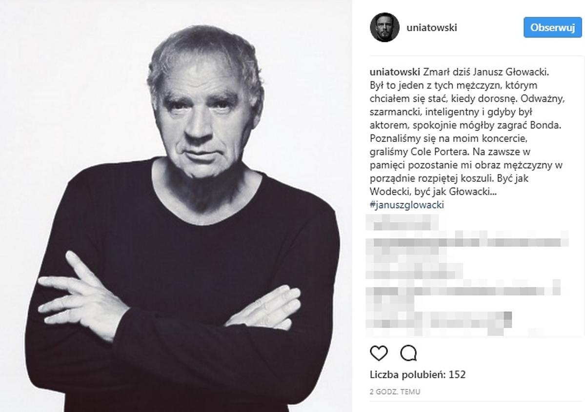 Wpis Sławka Uniatowskiego