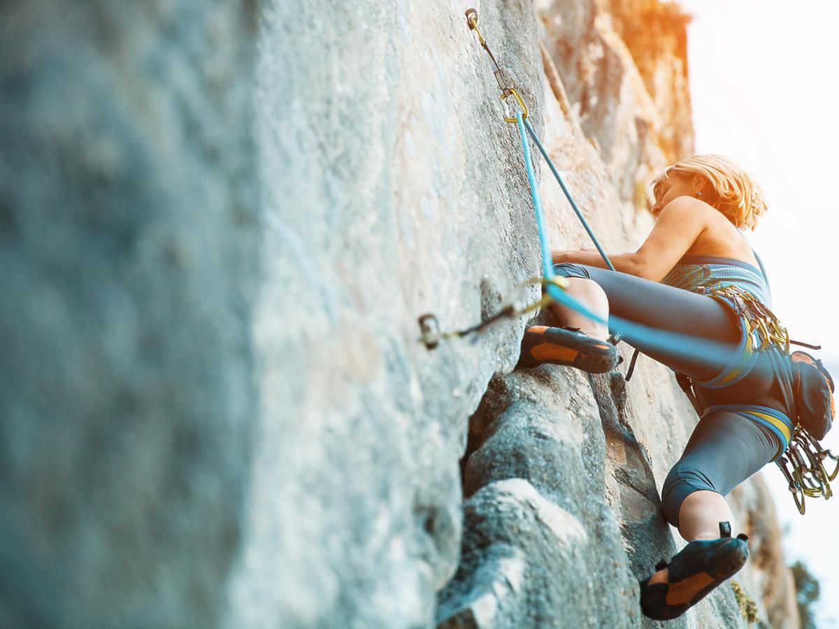 wspinanie się na ściankę