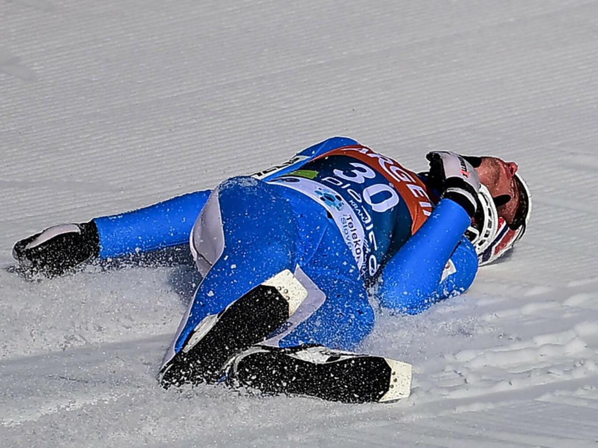 Wypadek na skoczni norweskiego skoczka Daniela Andre Tande
