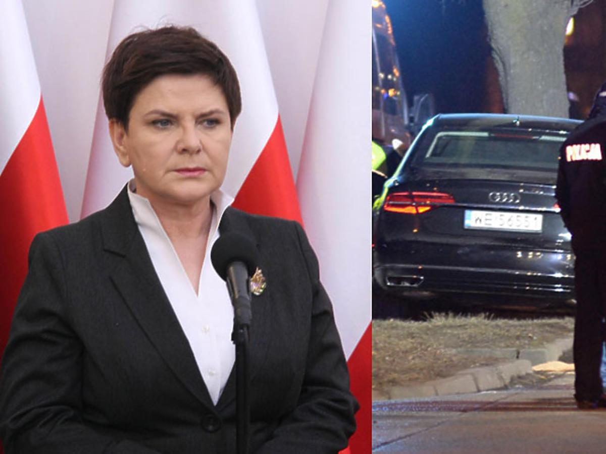 Wypadek samochodowy Beaty Szydło