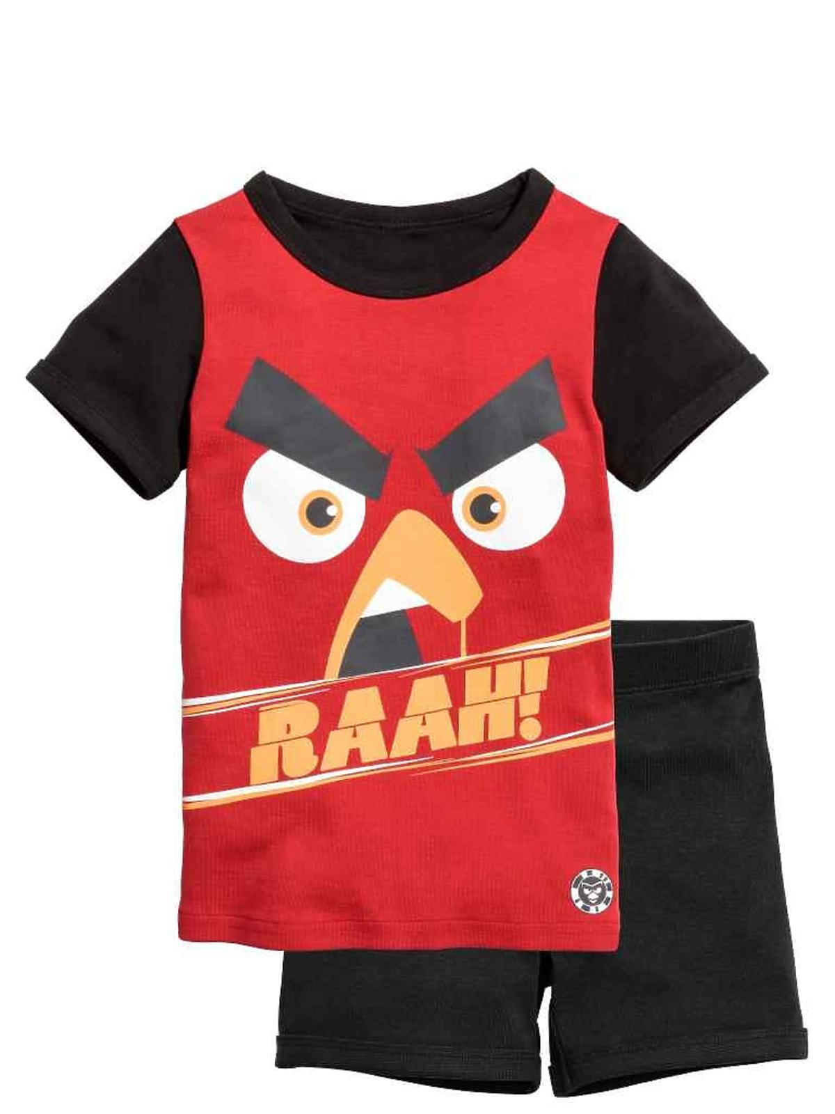 """Wyprzedaż H&M 2016 jesień zima - mid season sale: Dżersejowa piżama chłopięca """"Angry Birds''"""