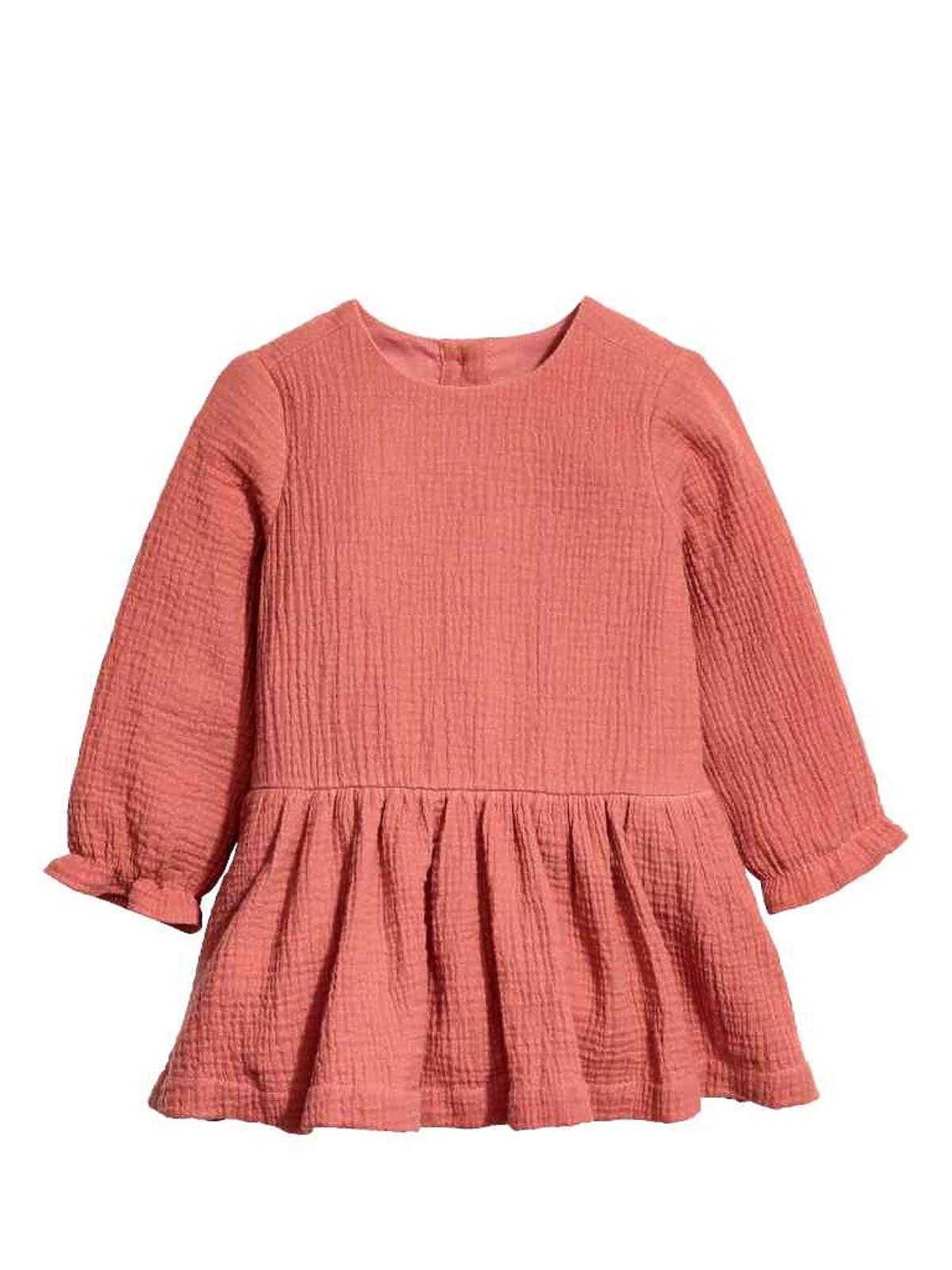 Wyprzedaż H&M jesień zima 2016: Bawełniana sukienka dziewczęca (50-92 cm), cena: 48,90 zł (po przecenie)