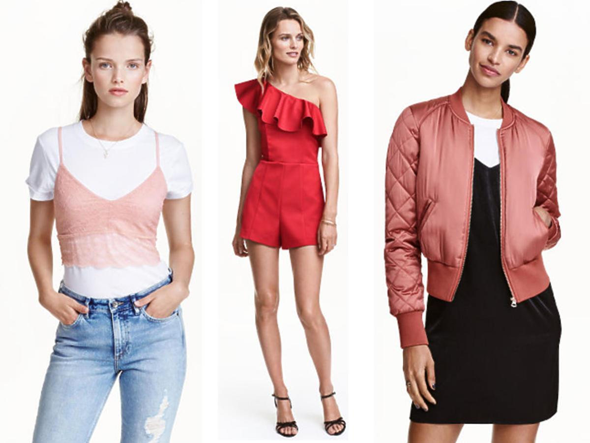 Wyprzedaż w H&M zima 2016 - przeceny do 100 zł: biustonosz, kombinezon, spódnica aksamit, bomber kurtka