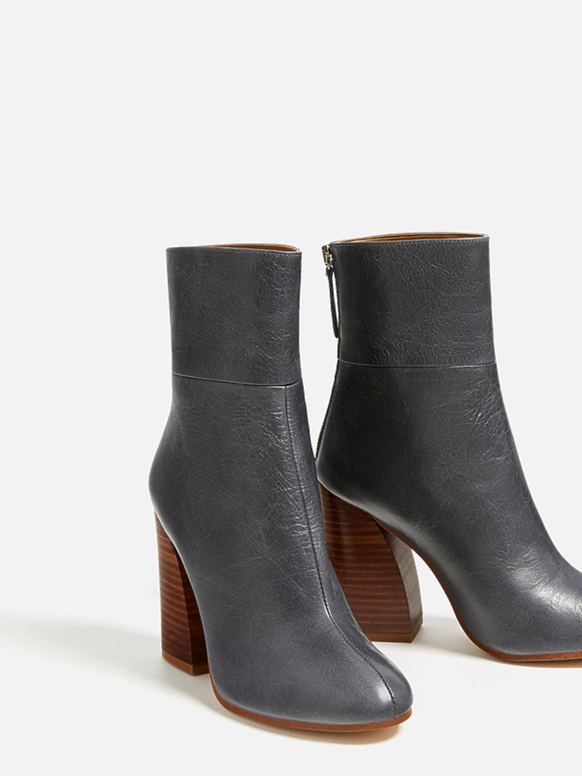 Wyprzedaż zimowa 2016: Skórzane botki, Zara, przecenione z 359,00 zł na 239,00 zł