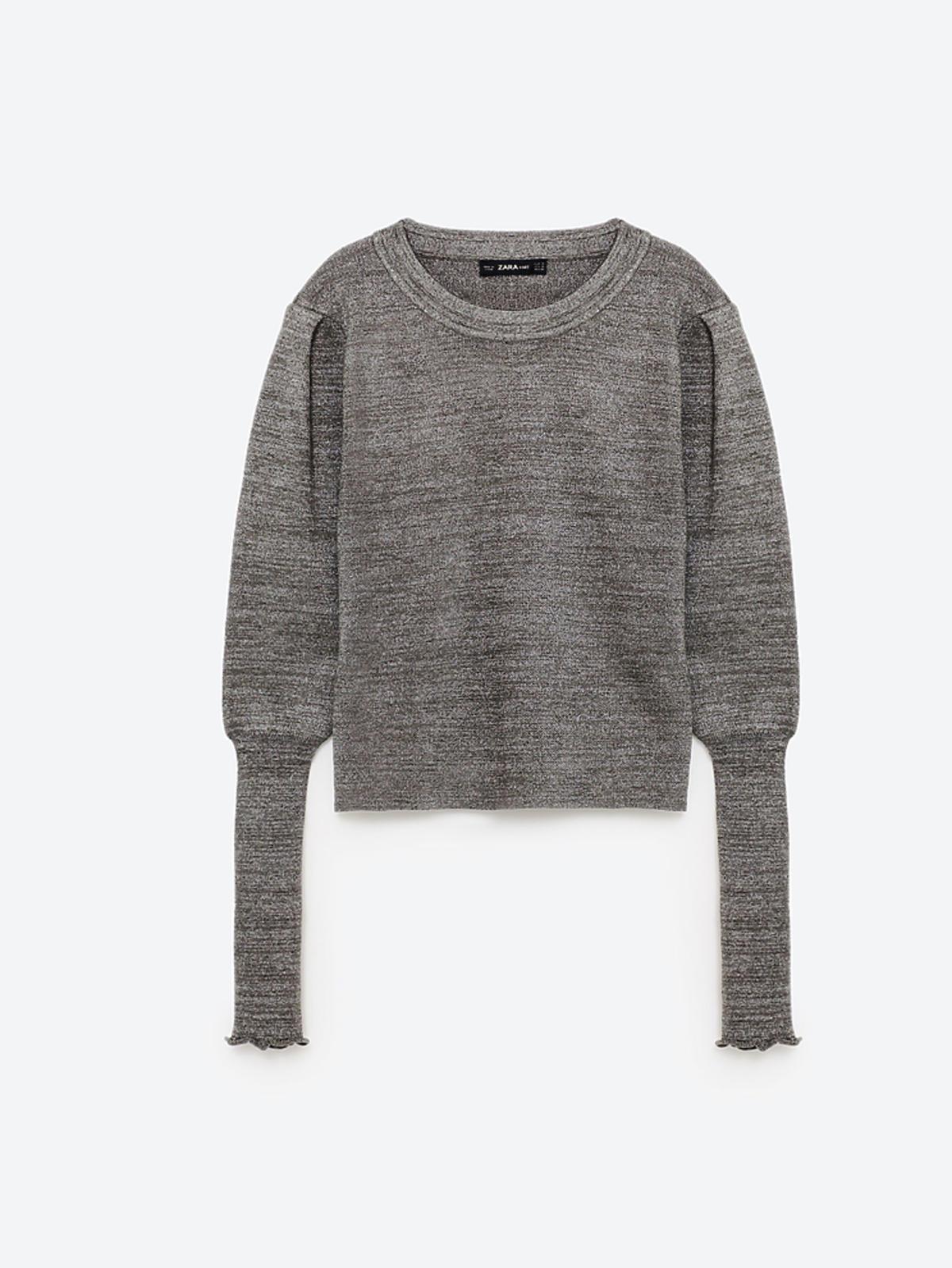 Wyprzedaż zimowa 2016: Sweter z bufiastymi rękawami, Zara, przeceniony z 119,00 zł na 79,90 zł