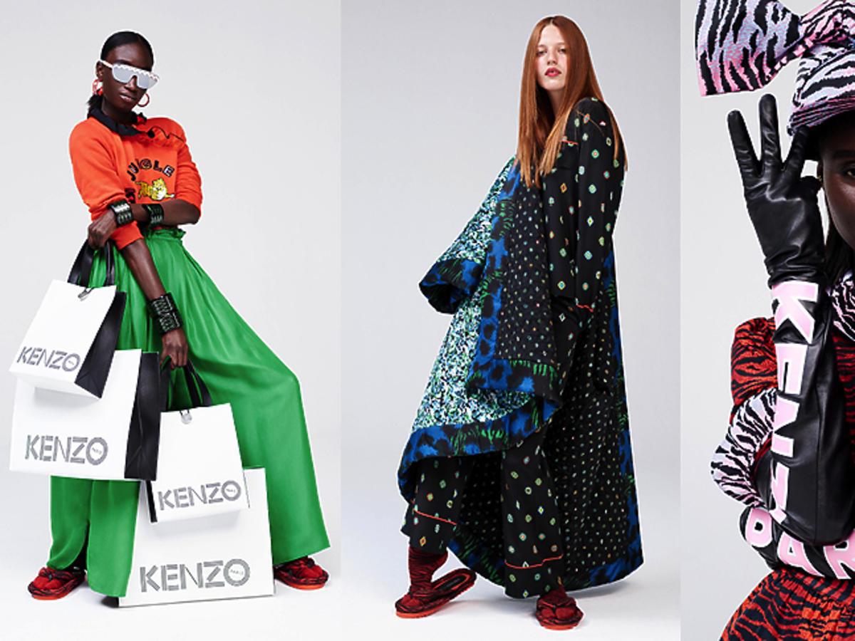 Wzorzyste ubrania Kenzo x H&M - kolekcja