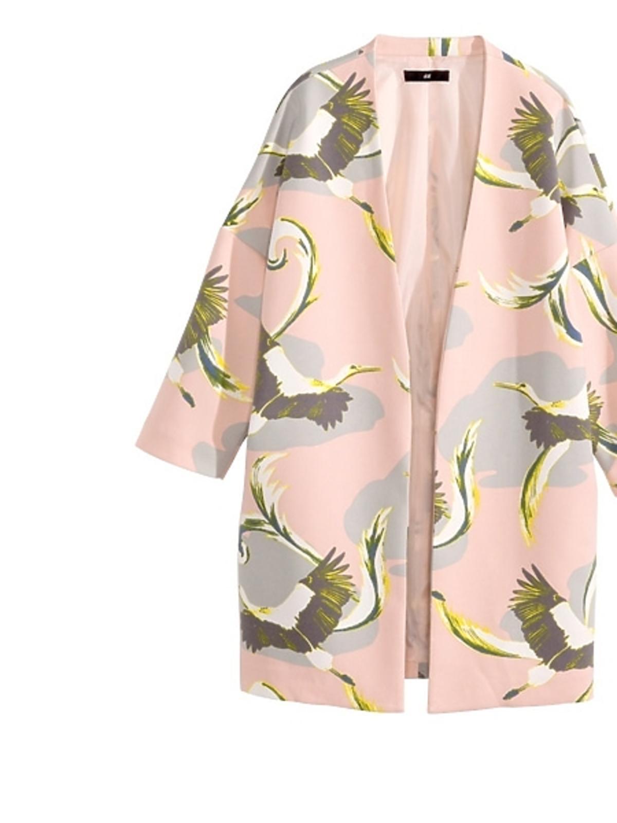 Wzorzysty płaszcz H&M, cena