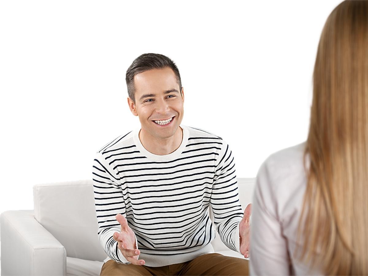 zadowolony mężczyzna