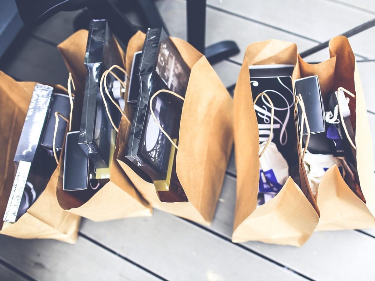 Zakupy w torbach