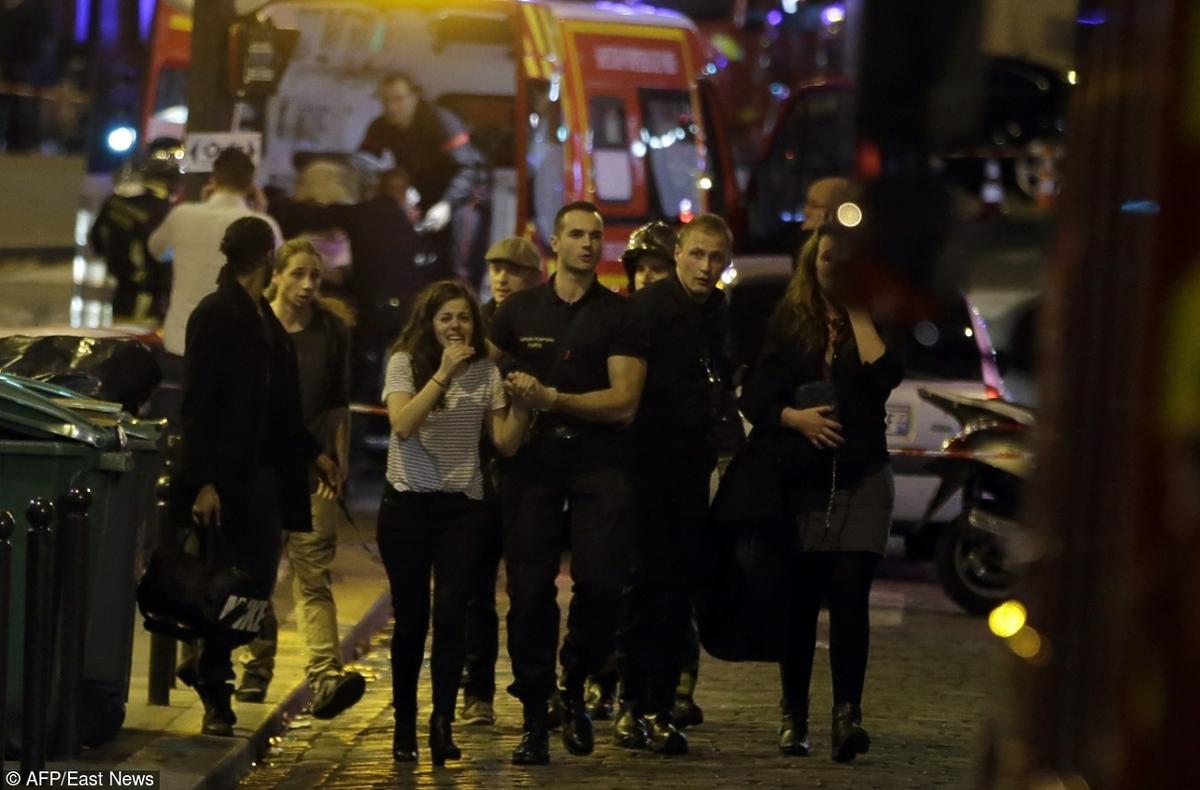 Zamach we Francji panika na ulicy