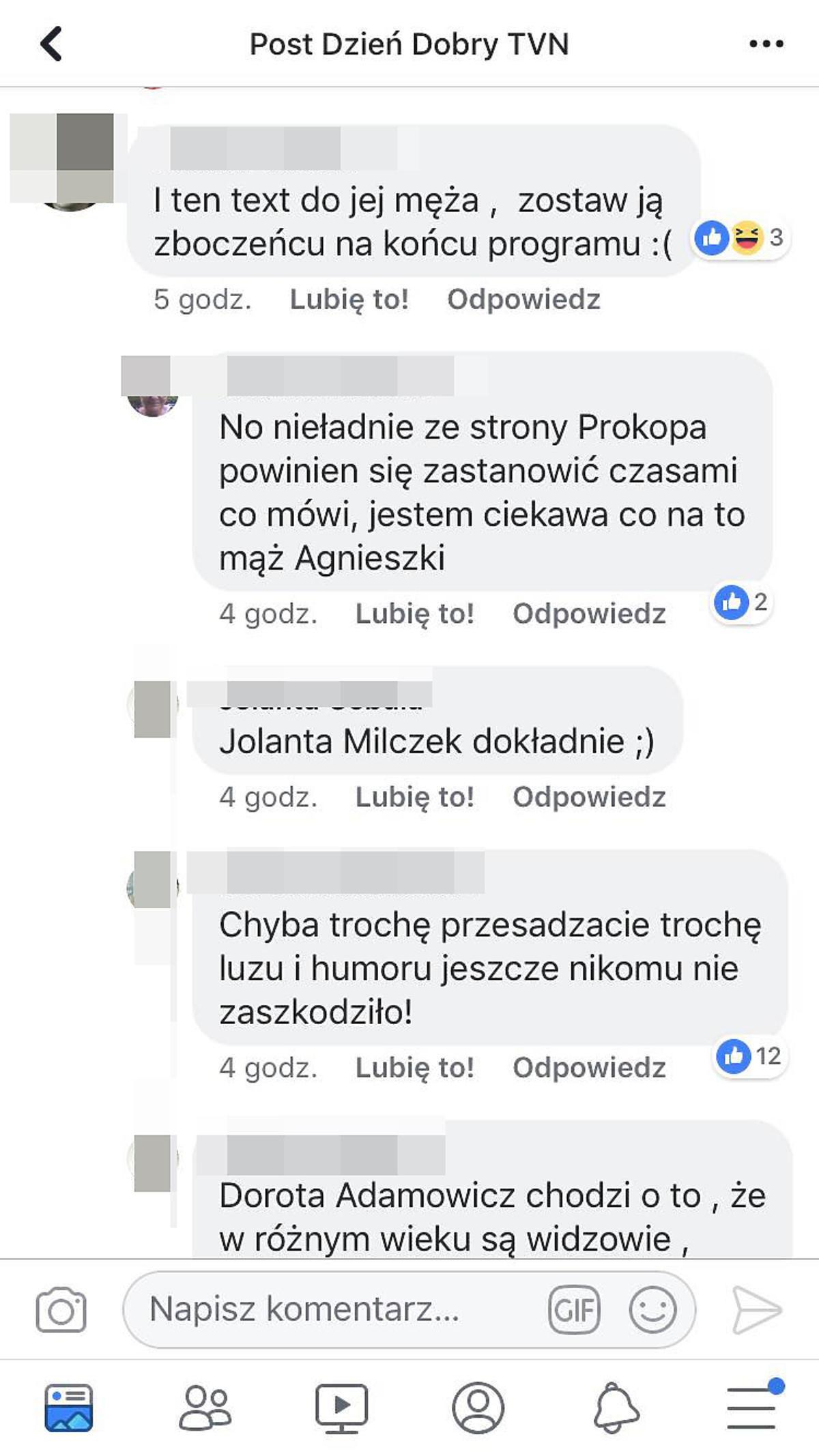 Żart Marcina Prokopa nie spodobał się fanom Kaczorowskiej