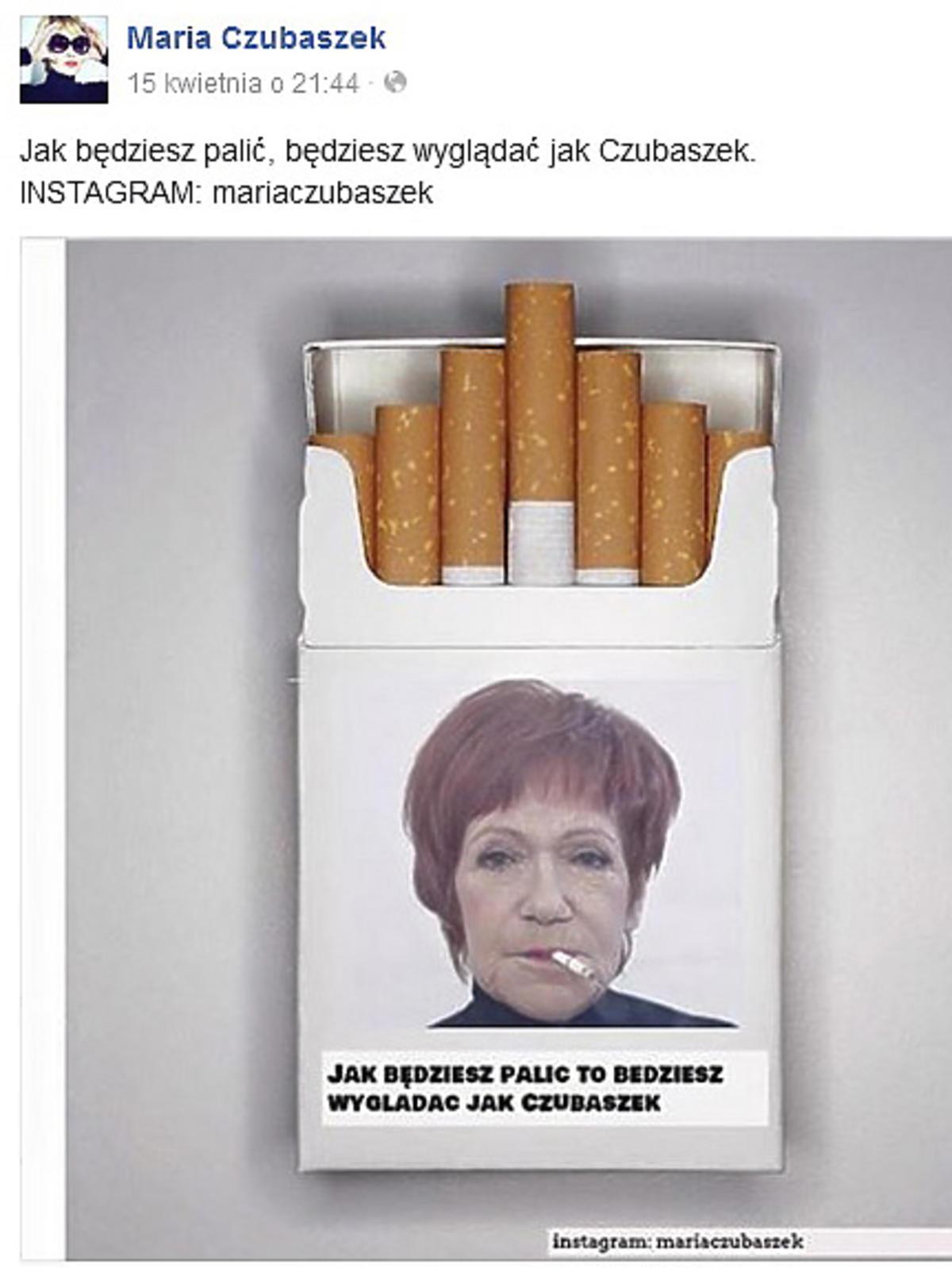 Żarty Marii Czubaszek na Facebooku