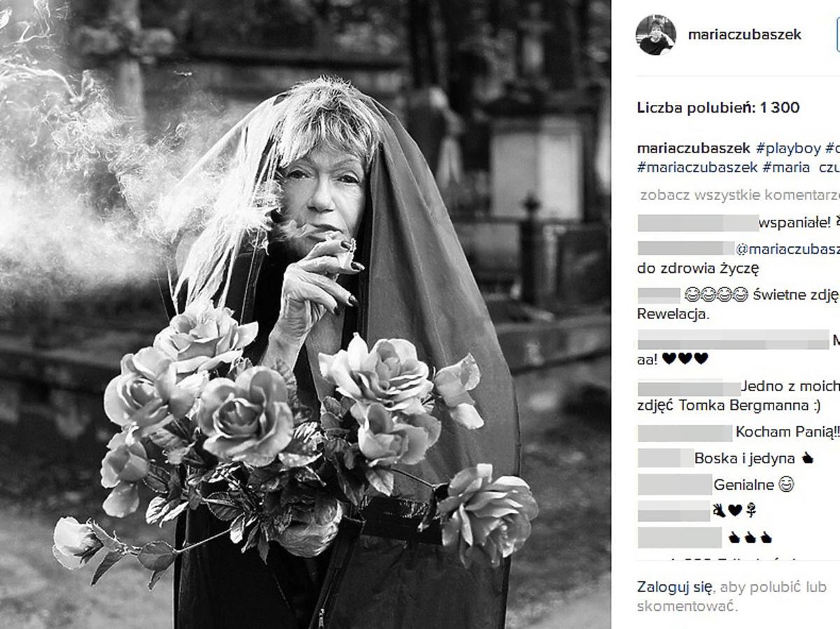 Żarty Marii Czubaszek na Instagramie