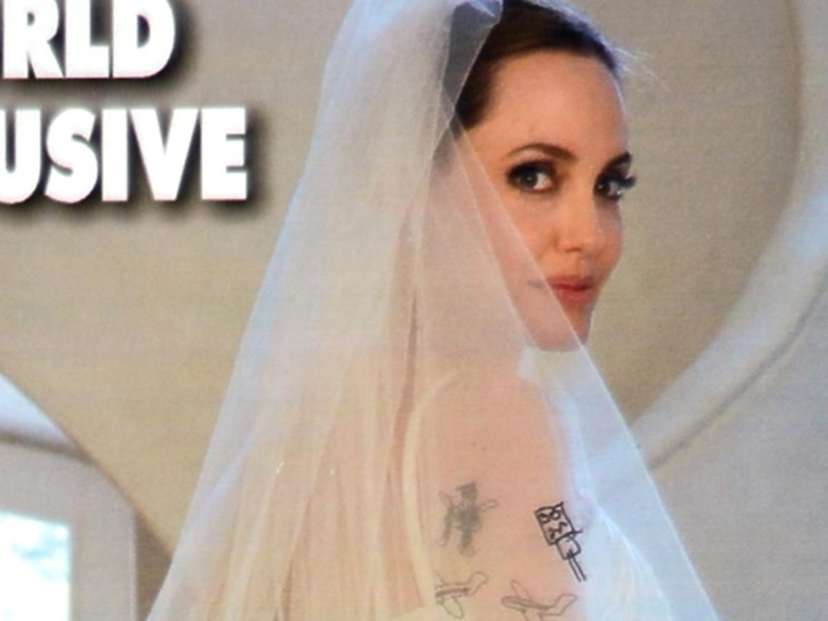 Żarty z sukni ślubnej Angeliny Jolie