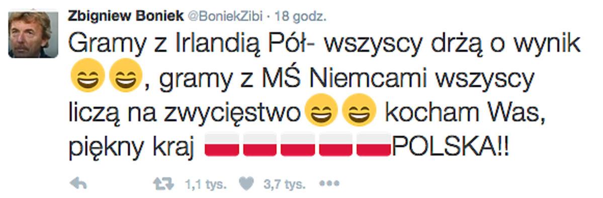 Zbigniew Boniek po meczu Polska-Niemcy