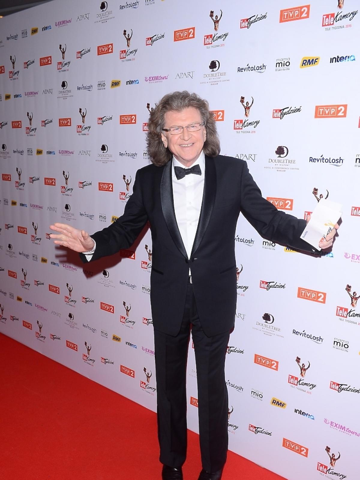 Zbigniew Wodecki na gali TeleKamery 2015