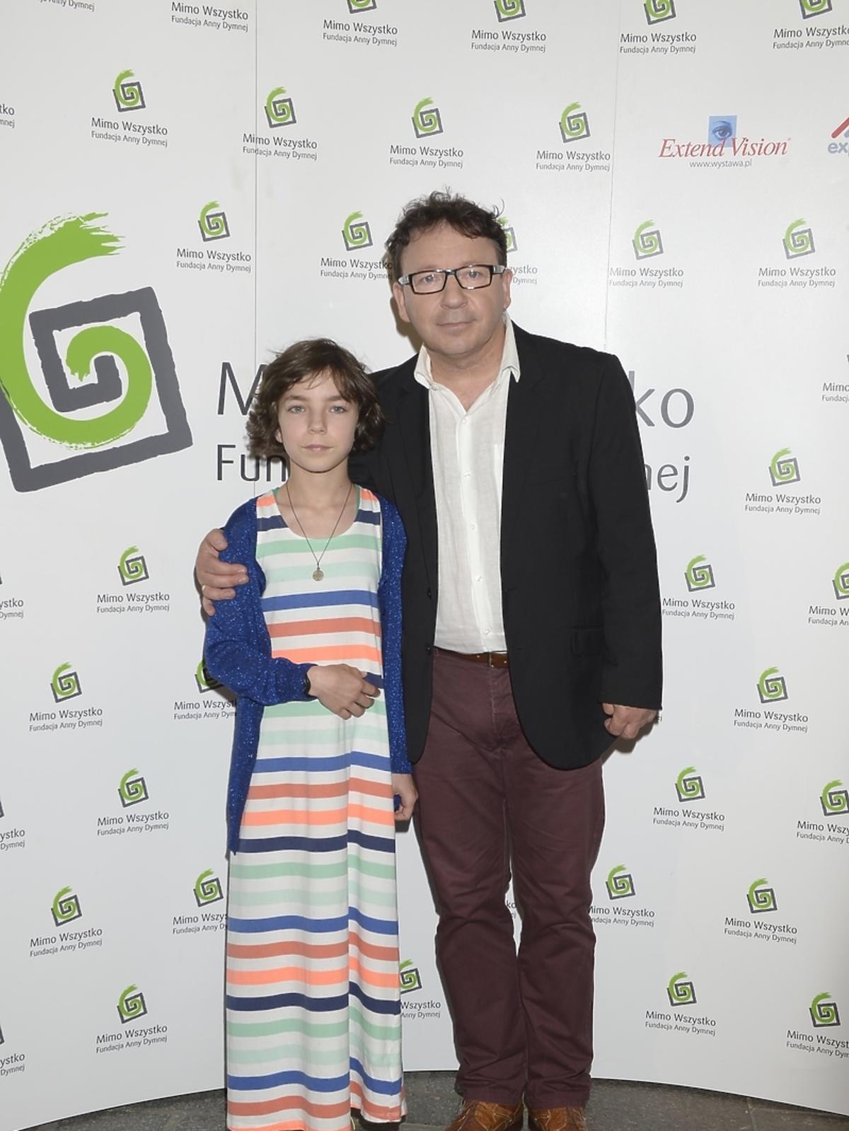 Zbigniew Zamachowski z córką Bronią na Festiwalu Zaczarowanej Piosenki