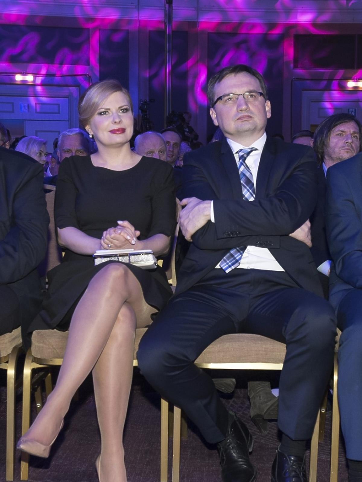 Zbigniew Ziobro z żoną na gali tygodnika