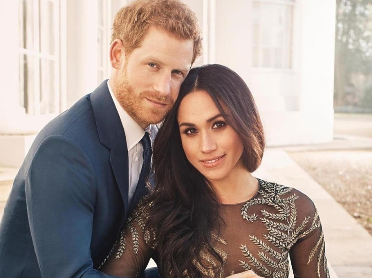 Zdjęcie Meghan Markle i księcia Harry'ego zrobione, aby uczcić ich zaręczyny