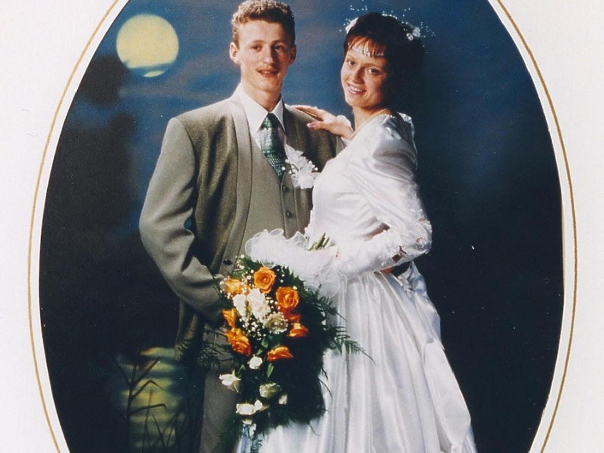 Zdjęcie ślubne Izy i Adama Małyszów