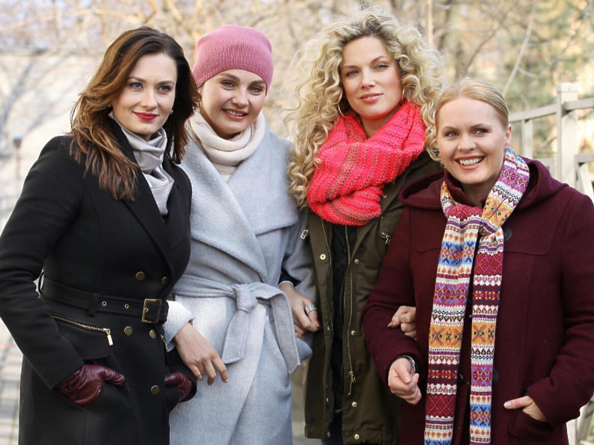 Zdjęcie z planu serialu Przyjaciółki