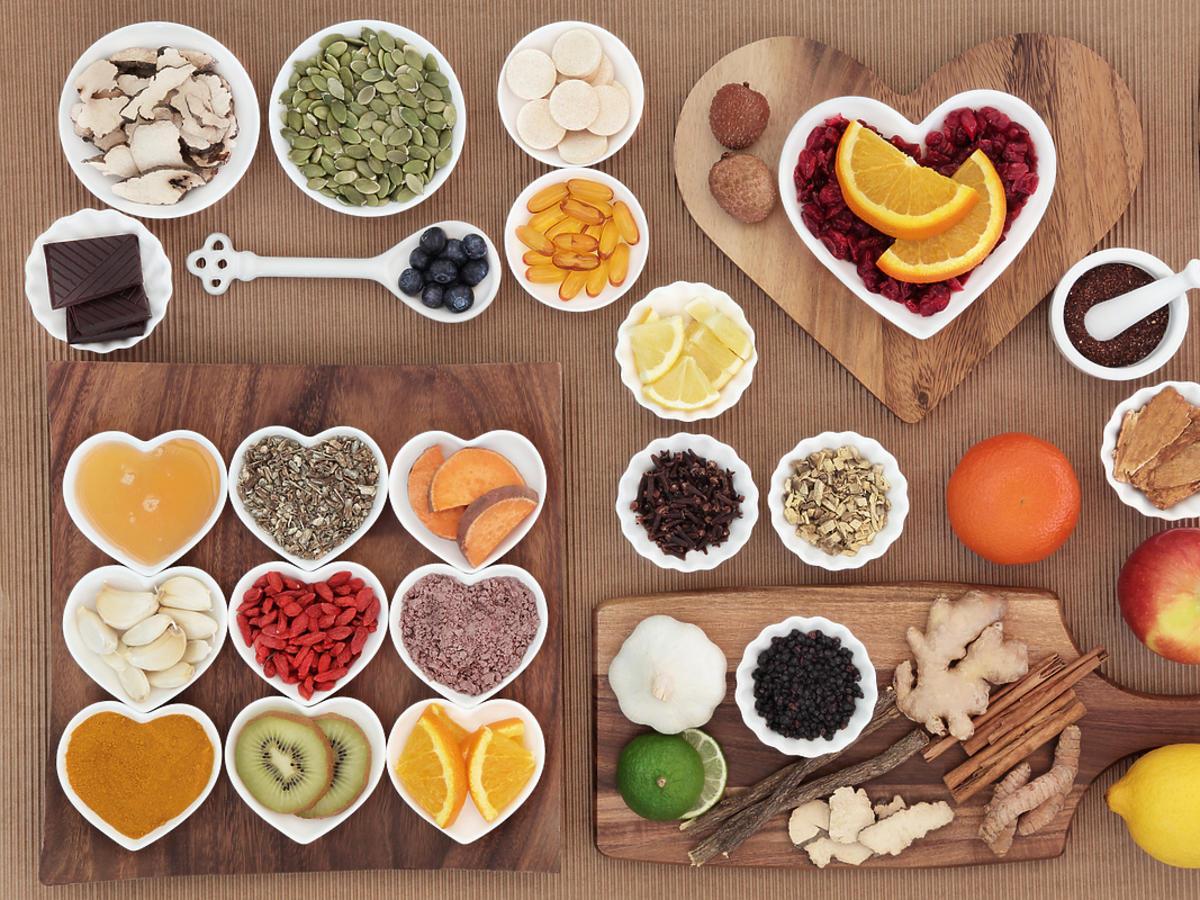 Zestaw zdrowych produktów spożywczych